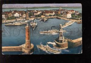 028753 LIGHTHOUSE in BODEN lake GERMANY Vintage PC