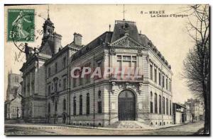 Old Postcard Bank Caisse d & # 39Epargne Meaux