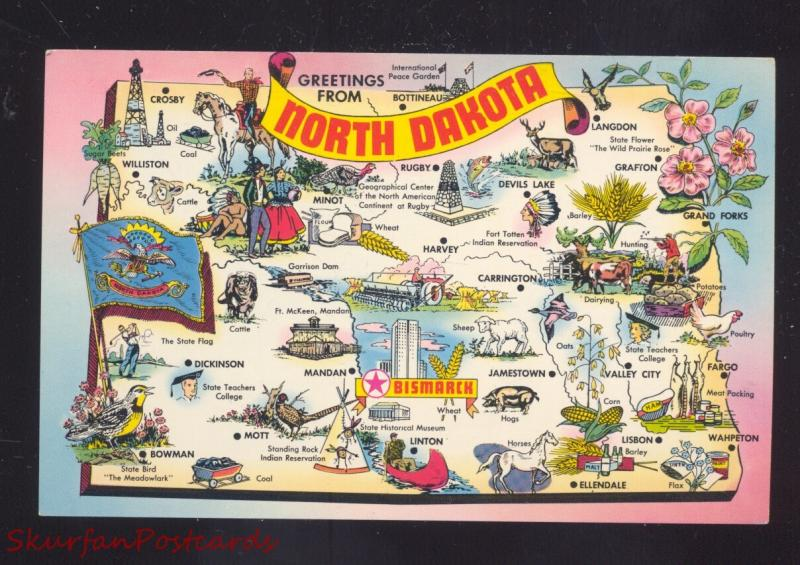 STATE OF NORTH DAKOTA MAP VINTAGE POSTCARD ND / HipPostcard on map of us states, map of ohio, map of louisiana, map of oregon, map of nd, map of usa states, map of texas, map of montana, map of nevada, map of united states, map of colorado, map of arizona, map of new mexico, map of wyoming, map of sc, map of north carolina, map of california, map of washington state, map of bottineau county, map of minnesota,