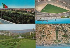 Portugal Lisboa Football Stadium Parque Eduardo VII 4x Postcard s