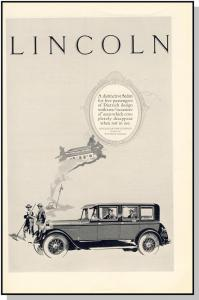 Vintage 1926 Lincoln Car/Auto/Automobile Ad, Classic Sedan
