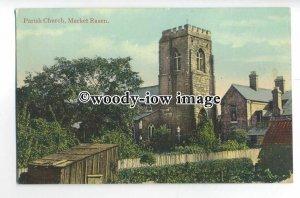 cu2475 - St. Thomas Parish Church at Market Rasen, from Back Gardens - Postcard