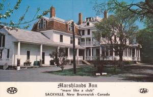SACKVILLE, New Brunswick, Canada, 1940-1960's; Marshlands Inn