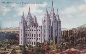 Utah Salt Lake City The Great Mormon Temple 1917
