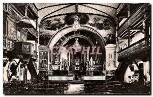 Postcard Old Sare Interior L & # 39Eglise