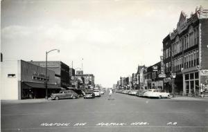 1940s RPPC Postcard Business District Norfolk NE Madison County LL Cook P-8