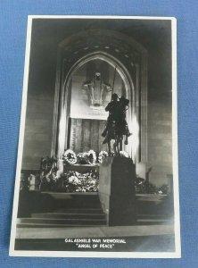 Vintage Real Photo Postcard Galashiels War Memorial Angel Of Peace G1G