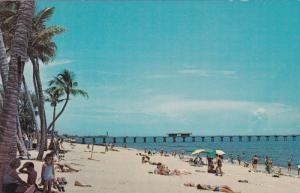 Enjoying the Sand and Sea at Sunny Pompano Beach,  Pompano Fishing Pier, Pomp...