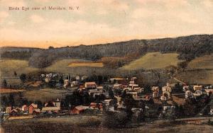 Bird's Eye View Meridale, New York Postcard