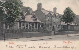 London East Ham Hospital Antique Postcard