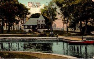 Maine Portland Deering Oaks Shelter House 1910
