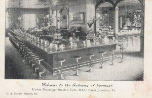 WHITE RIVER JUNCTION, Vermont, 1900-10's ; Union Railroad Passenger Station Cafe