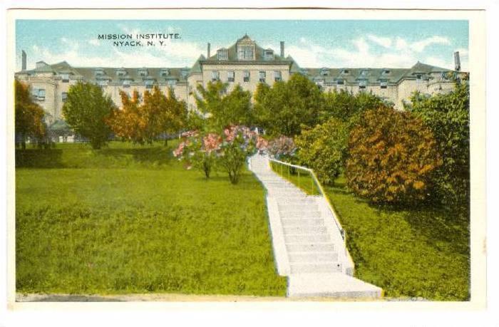 Mission Institute, Nyack, New York, 1910-1920s
