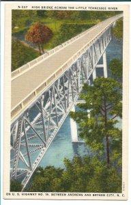 near Bryson City, NC - High Bridge Across Little Tennessee River