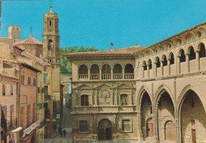 POSTAL 62864 : Alcañiz. Palacio Municipal y Lonja. España
