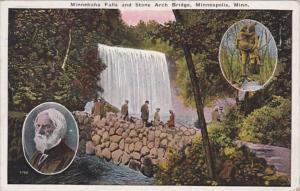 Minnesota Minneapolis Minnehaha Falls & Stone Arch Bridge