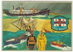 RNLI Lifeboats PPC By MK, 1974 To Miss Ormond, East Peckham, To Pay Cachet