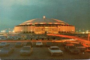 Texas Houston The Astrodome At Christmas Time
