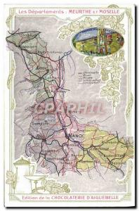 Old Postcard geographical maps of Chocolaterie & # 39Aiguebelle Meurthe et Mo...
