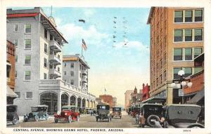 Phoenix Arizona Central Avenue Antique Postcard J49915