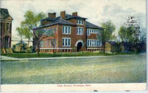 HOLDREGE, NE Nebraska    HIGH  SCHOOL   1907      Postcard