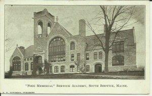 Fogg Memorial, Berwick Academy, South Berwick, Maine
