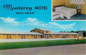 Mexico Missouri~Television on a Stand in Monterey Motel Room 1961 Postcard