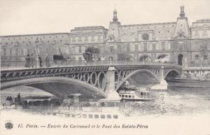 PARIS , France , 1890s : Entree du Carrousel et le Pont des Saint-Peres
