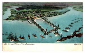 Aerial View of the 1907 Jamestown Exposition World's Fair Postcard