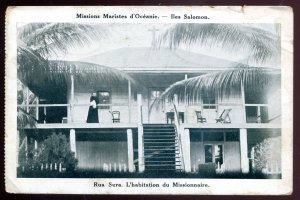 dc440 - SOLOMON ISLANDS Rua Sura Postcard 1910s Maristes Missions