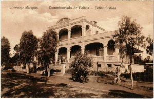 PC CPA MOZAMBIQUE, LOURENCO MARQUES, POLICE STATION, VINTAGE POSTCARD (b20768)