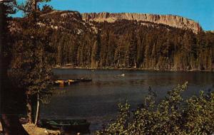 Mammoth Lakes California panoramic birds eye view Lake Maine vintage pc ZA440643