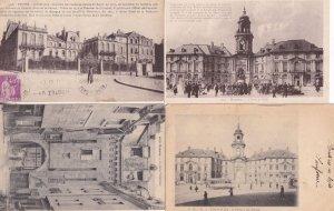 Rennes Porte Mordelaise L'Hotel De Ville Clock Prefecture 4x French Postcard s
