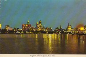 New York Buffalo Skyline From Lake Erie 1973