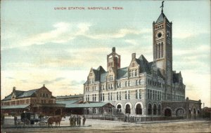 Nashville TN Union RR Train Station Depot c1910 Unused Postcard