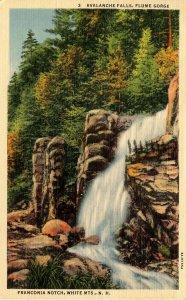 NH - Franconia Notch. The Flume, Avalanche Falls