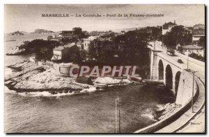 Old Postcard Marseille Corniche The Bridge Of False Monnale