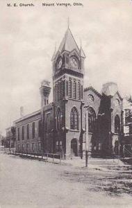 Ohio Mount Vernon M E Church Albertype