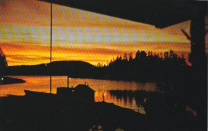 Canada Sunset Looking West On Refuge Cove British Columbia