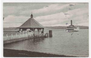 Steamer Approaching Wharf Pier Mt Vernon Virginia 1935 postcard