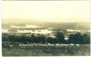 RPPC - Birdseye View, Flying Pond, Mt. Vernon ME
