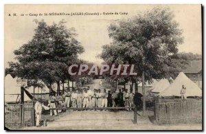 Old Postcard Camp St Medard en Jalles Entree camp (militaria)