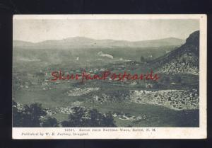RATON NEW MEXICO FROM NATURAL WALL BIRDSEYE VIEW NM VINTAGE POSTCARD