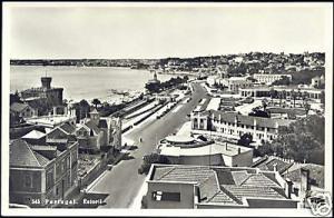 portugal, ESTORIL, Street Scene, Panorama (1960s) RPPC