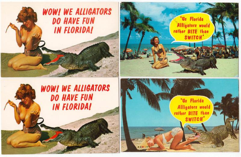 4 - Woman with Alligators