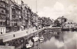 RP, Sailboats, Le Port, La Lieutenance Et Le Quai Sainte-Catherine, Calvados,...
