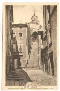 Crest (Drôme), France, 1900-1910s Escakier des Cordeliers