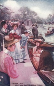 LONDON , England , 1900-10s; Boating, Battersea Park, TUCK 9276