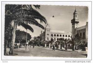RP  SFAX, Tuniesia, L'Avenue Jules Gau et la Municipalite, PU-1955
