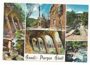 Spain Barcelona Guell Park Multiview Antoni Gaudi Vintage 4X6 Postcard